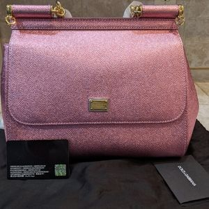 New Dolce & Gabbana Top Handle Leather Satchel